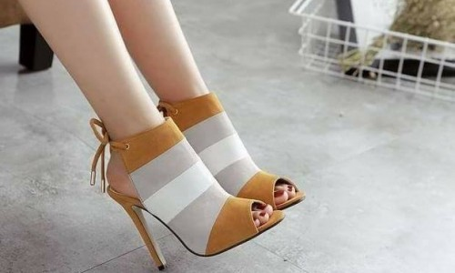 Tan and White Sandals