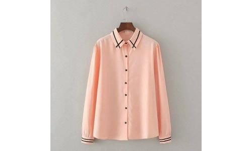 silk peach shirt