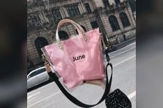 Pink Rubber Summer Hand Bag