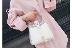 White Rubber Summer Hand Bag