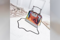 Mirror Leather Hand Bag