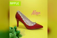 حذاء احمر فرنيه