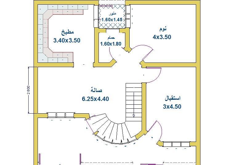 خرائط بيوت 100 متر 10*10 عراقية مودرن 2019 - دوبارتر